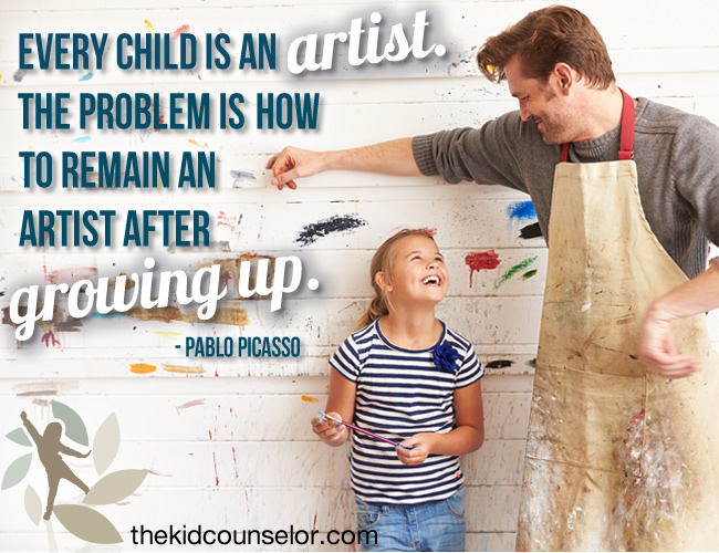 Every child is an artist. The problem is how to remain an artist after growing up.